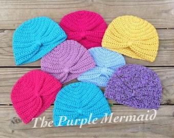 Baby Girl, Turban, Hat, Winter, Fall, Warm, Babies, Female, 12 Months