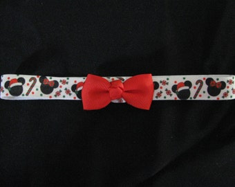 baby headband christmas mouse red bow