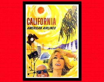 California Travel Print - California Travel Poster Wall Decor Travel Wall Art Travel California Poster Hostel Decor BUY 3 Get 1 FREE