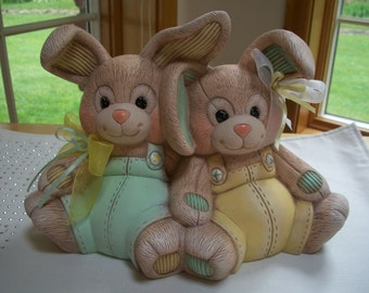 ceramic Stuffed Easter Bunnys