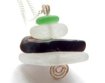 Sea Glass Stack Pendant