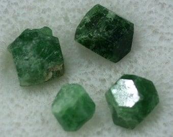 Four Chromium Uvite Tourmaline Crystals, Burma- Mineral Specimens for Sale
