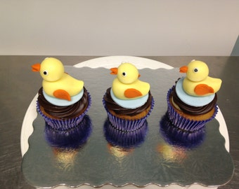 Rubber Duckie Cupcake Toppers