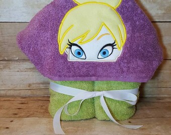 Princess Fairy Hooded Towel with FREE Embroidered Name