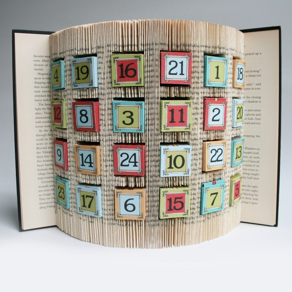 Blank Calendar Book : Book folding pattern cuts advent calendar free printable