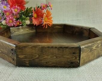 rustic wood tray bedside tray wood valet tray wood tray rustic bathroom