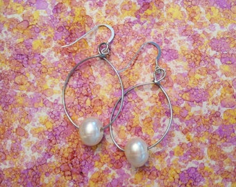 Pearl Wire Earrings