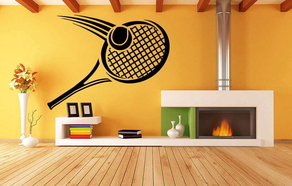 Tennis Racket Wall Decal by RoomDecalsAndDesigns