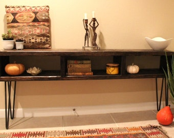 """60"""" Entertainment Center, TV console, reclaimed wood entertainment center, industrial console, barnwood, console, wood, furniture, TV stand"""