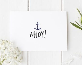 Nautical Greetings Card / Nautical Notecard / Nautical Invite / Nautical Wedding / Greetings card / Cards / Project life / Planner insert