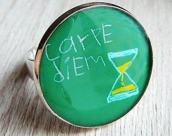 """Ring """"Carpe diem"""""""