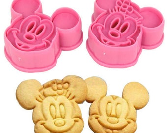 Minnie & Mickey Mouse Cutter 2 PC Set - Cookie Cutter Fondant Gumpaste Disney