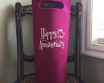 Happy Anniversary Wine Cozy
