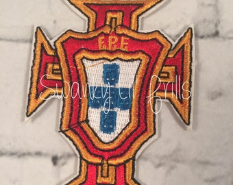 Portugal Embroidered Patch, Iron On Patches, Applique, Applique Patch, Euro, Soccer, Portugal Soccer