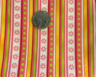 Pink, orange, green fat quarter