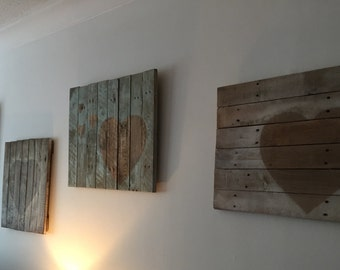 Rustic Pallet Wood Heart Wall Art