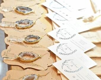 Agate & Quartz Bridesmaid Necklace, Bridesmaid Lariat Necklace, Natural Bridesmaid Necklace, 14k Gold Bridesmaid Necklace Bridesmaid Jewelry