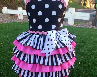 Minnie mouse inspired dress, minnie mouse birthday dress