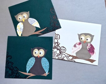 Owl Cards - Set of 3