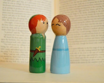 Peter Pan and Wendy Peg Doll