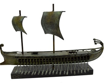 Warship Ancient Greek reproduction artifact boat