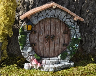 Fairy Door Round Hobbit Whimsical Fairy Garden Door+Fairy Garden Accessoies+Fairy Garden Supplies+Fairy Garden Miniatures+Gnome Door+Pixies
