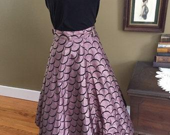 1950's Full Taffeta Skirt.