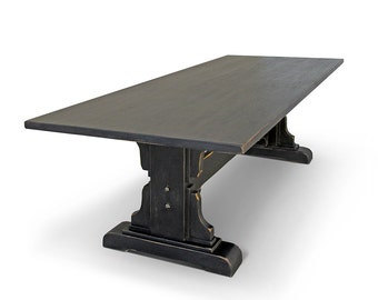 Table, Dining Table, Reclaimed Wood, Kitchen Table, Trestle Table, Handmade