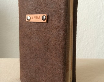 Personalised Brown Leather Passport Cover