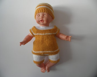 Clothing - doll dress - hand knitted - for doll approximately 40 cm