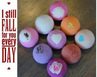 Lover Gift Pack Bath Bomb Set 9 Ultra Lush Handmade Fizzies Shea Cocoa Butter Moisturize Dry ...