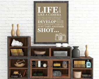 "Personalized ""Life Is Like A Camera"" Wall Art"