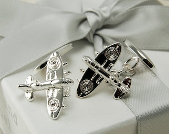 Personalised Plane Cufflinks ~ Engraved Wedding, Anniversary, Birthday, Father's Day Gift