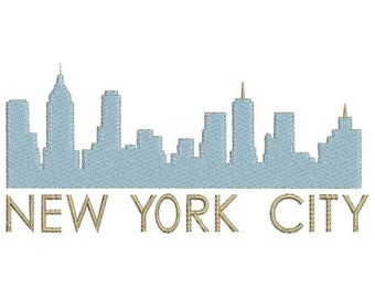 New York City skyline embroidery design