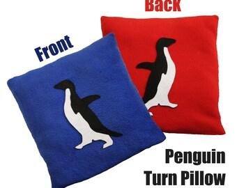 Penguin Socially Awkward/Awesome Meme Turn Pillow