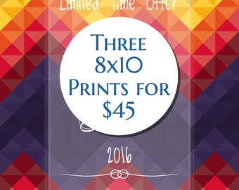 Pick any three 8x10 prints - Bundle & Save!
