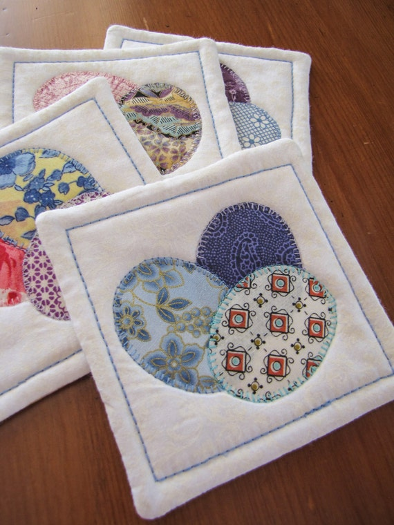 Easter mug rugs fabric coasters easter wikii quilted easter coasters set of four easter egg coaster quilted coaster set easter hostess gift this set of four quilted coasters are perfect for your negle Choice Image