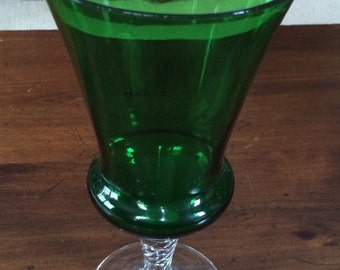 Pretty Handblown Glass Bud Vase or Goblet