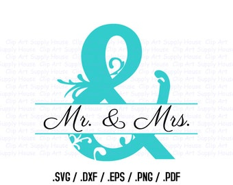 Wedding Clipart, Newly Weds Wall Art, First Love SVG File for Vinyl Cutters, Screen Printing, Silhouette, Die Cut Machines - CA224