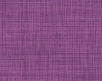 P & B Textiles - Color Weave Red Violet Fabric / Plum Purple Linen Texture Tonal Fabric