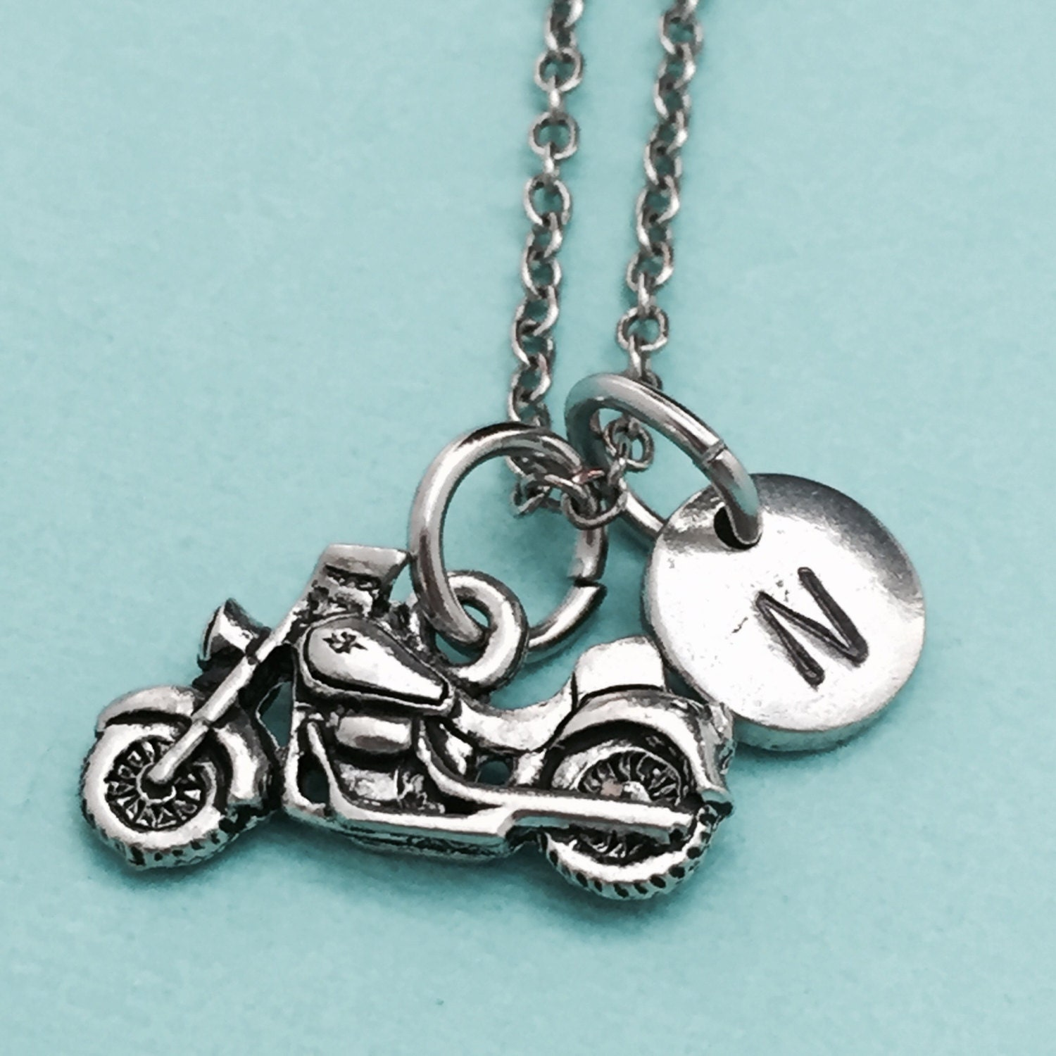 motorcycle necklace motorcycle charm automobile necklace