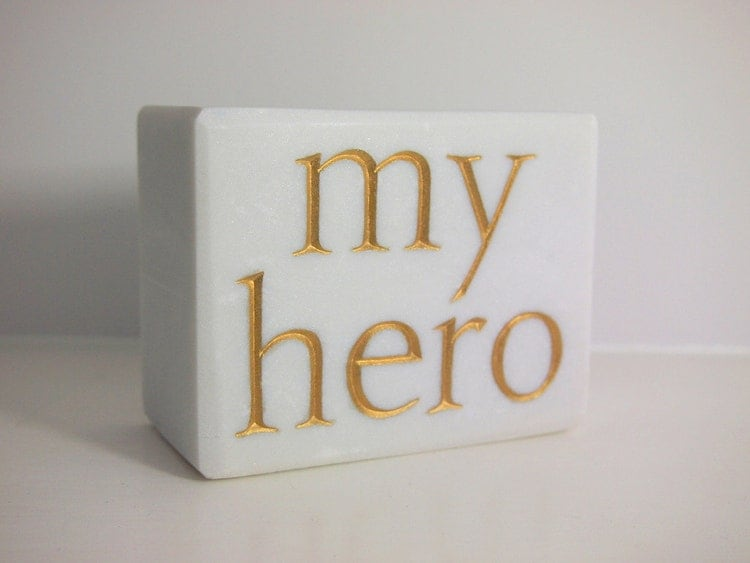 Marble Small Block : Hand carved my hero in small marble block letter by