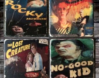 Rocky Horror Vintage Posters Tile Set x4