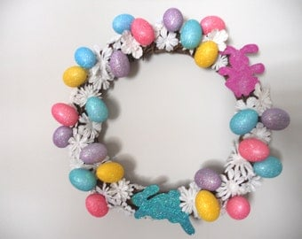 Easter Wreath - Eggs & Daisies