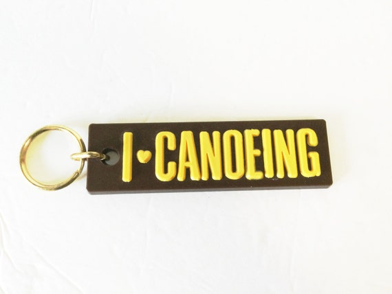 Canoe Canoeing Keychain on Etsy