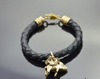 Bracelet Flying Pig Bronze