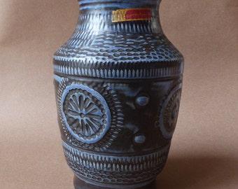 Bay Contura vintage vase blue dark grey 545-25