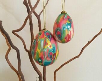Easter egg ornament. Easter decoration. Easter gift.  Decorative eggs. Decoupage eggs. Spring Fling