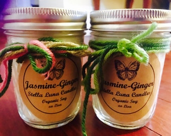 Jasmine-Ginger Organic Soy Essential Oil Candles