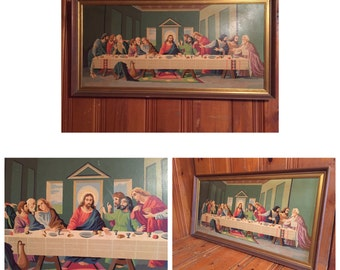 Paint By Numbers Last Supper Vintage Last Supper Paint by Numbers Vintage Paint By Numbers Jesus Paint by Numbers